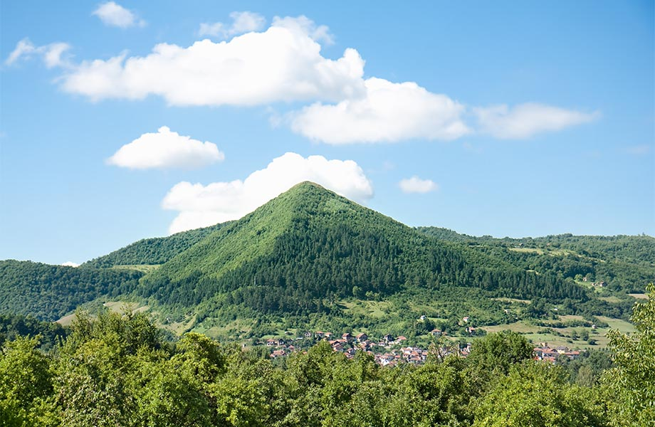 Sun pyramide in Visoko, Bosnia and Hercegovina with Maestral Travel Agency