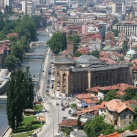 Panoramic view of Sarajevo, with Maestral Travel Agency