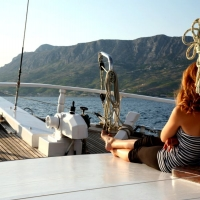 View from the deck of Atlantia Gulet with Maestral Travel Agency