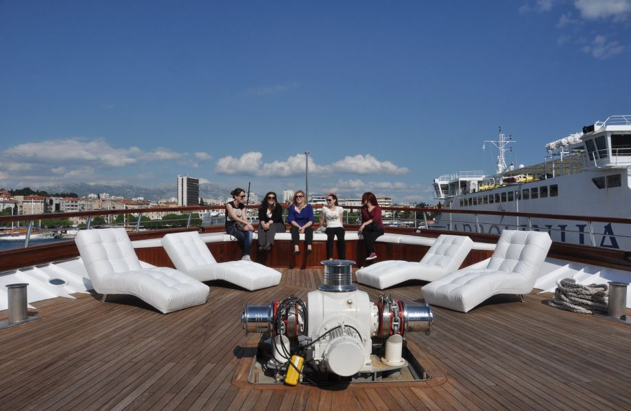 Deck of the M/S President with Maestral Travel Agency
