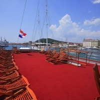 Deck on Eos Oldtimer with Maestral Travel Agency