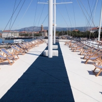 Deck on Dalmatia Oldtimer with Maestral Travel Agency