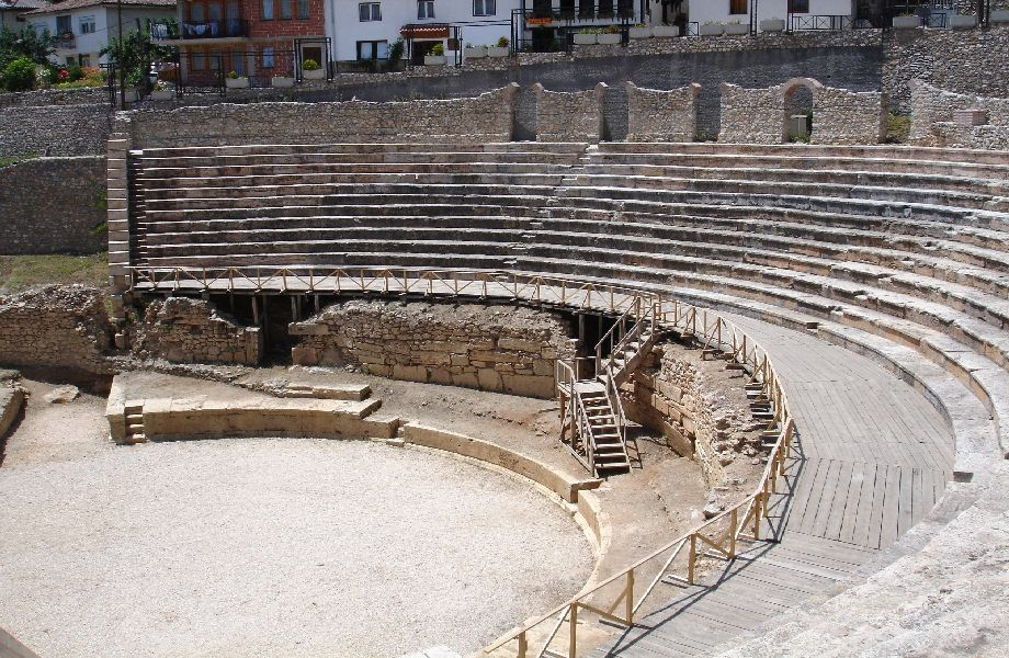 Ohrid theater with Maestral Travel Agency