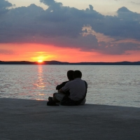 Sunset in Zadar, Croatia with Maestral Turist Agency