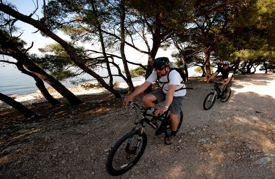 Biking on Island Brac, Croatia with Maestral Turist Agency