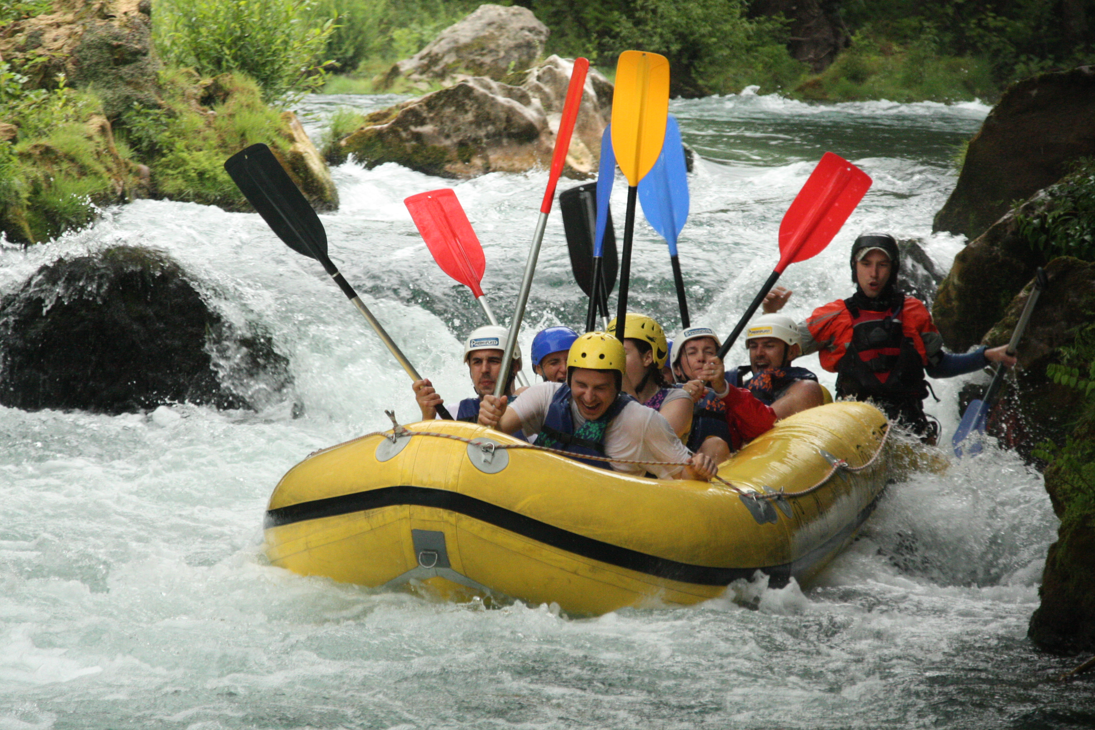 Rafting on the river Cetina, Croatia with Maestral Travel Agency