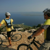 Biking with view on Island Brac, Croatia with Maestral Turist Agency