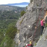 Rock climbing on Island Brac, Croatia with Maestral Turist Agency