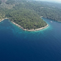 Aereal view of Dalmatia\'s island, Croatia with Maestral Travel Agency