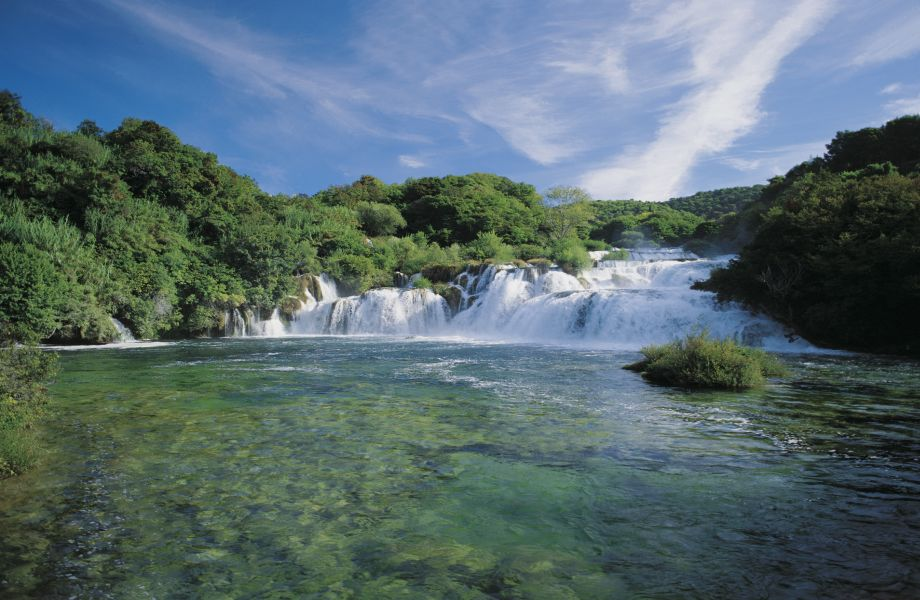Skradinski Buk Waterfall in National Park of Krka Waterfalls, Croatia with Maestral Travel Agency
