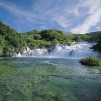 Skradinski Buk Waterfall in National Park of Krka Waterfalls, Croatia with Maestral Travel Agency