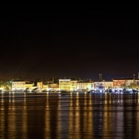 Porec by night, Croatia with Maestral Travel Agency