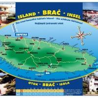 Plan otoka Brača with Maestral Travel Agency