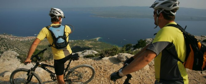 Biking on Brac